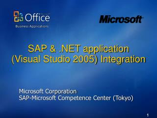 SAP   application Visual Studio 2005 Integration