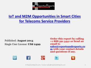 Overview of Smart Cities IoT and M2M Market