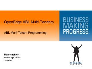 OpenEdge ABL Multi-Tenancy