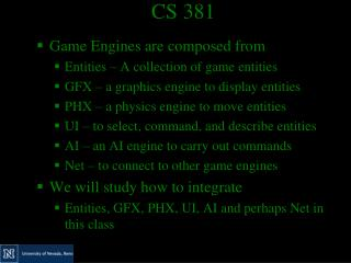 CS 381