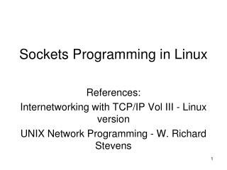 Sockets Programming in Linux