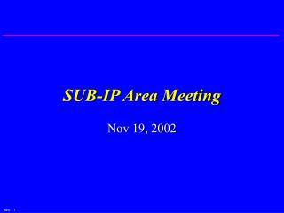 SUB-IP Area Meeting
