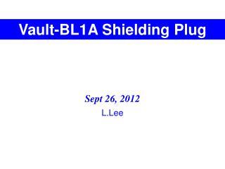 Vault-BL1A Shielding Plug