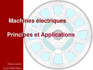 Mach ines électriques