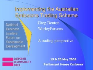 Implementing the Australian Emissions Trading Scheme