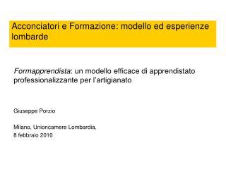 Acconciatori e Formazione: modello ed esperienze lombarde