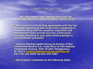 TURNKEY CONSTRUCTION