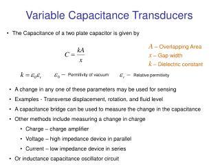 Variable Capacitance Transducers