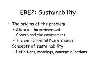 ERE2: Sustainability