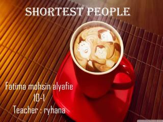 Shortest people