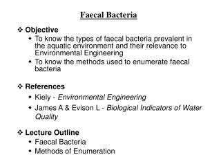 Faecal Bacteria