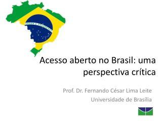 Acesso aberto no Brasil: uma perspectiva cr�tica