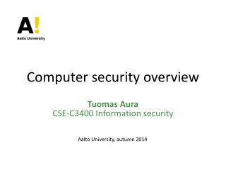 Computer security overview