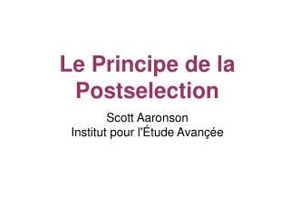Scott Aaronson Institut pour l' É tude Avançée