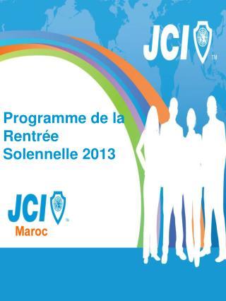 Programme de la Rentrée Solennelle 2013