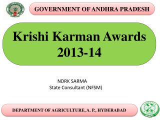 Krishi Karman Awards  2013-14