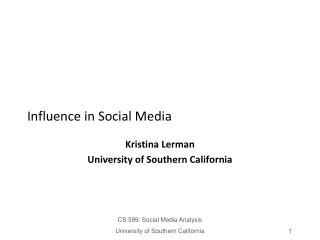 Influence in Social Media