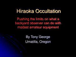 Hiraoka Occultation