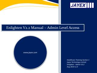 Enlighten V2.2 Manual – Admin Level Access