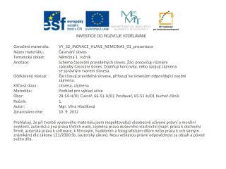 Označení materiálu: VY_32_INOVACE_HLAVE_NEMCINA1_01_prezentace Název materiálu:Časování sloves