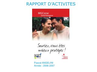 RAPPORT D'ACTIVITES