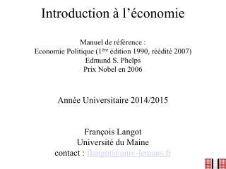L'économie et l'individu
