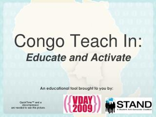 Congo Teach In:  Educate and Activate