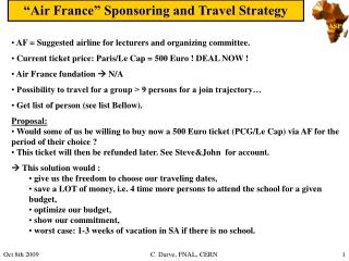 �Air France� Sponsoring and Travel Strategy