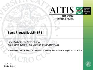 Borsa Progetti Sociali - BPS