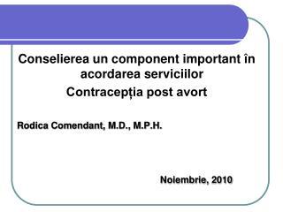 Co nselierea un component important în acordarea serviciilor Contracepția post avort