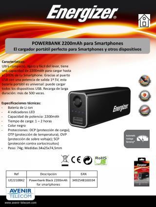 POWERBANK 2200mAh para  Smartphones