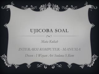 Ujicoba Soal