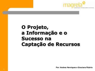 O Projeto,  a Informa��o e o Sucesso na Capta��o de Recursos
