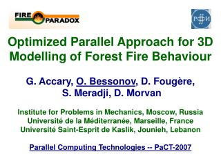PaCT-2007: Optimized Parallel Approach for 3D Modelling