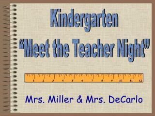 Mrs. Miller & Mrs.  DeCarlo