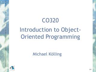 CO320 Introduction to Object-Oriented Programming