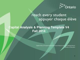 Capital Analysis & Planning Template V4 Fall 2014