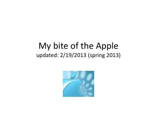 My bite of the Apple updated: 2
