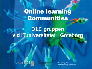 Ove Jobring 2004 Online Learning Communities