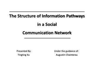 The Structure of Information Pathways in a Social Communication Network