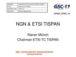 NGN & ETSI TISPAN