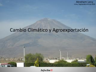 Cambio Climático y Agroexportación