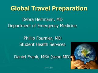 Global Travel Preparation