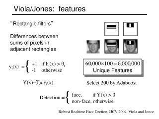 Viola/Jones:  features