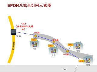 EPON 总线形组网示意图