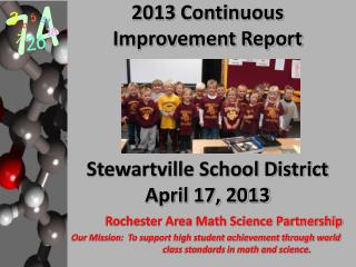 2013 Continuous Improvement Report Stewartville School District April 17, 2013