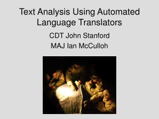 Text Analysis Using Automated Language Translators