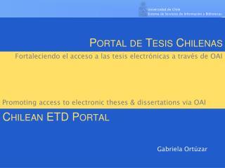Portal de Tesis Chilenas