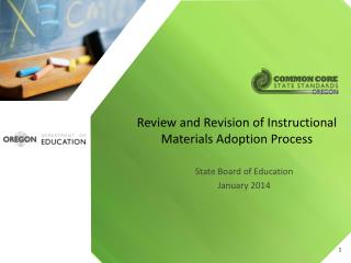 Review and Revision of Instructional Materials Adoption Process