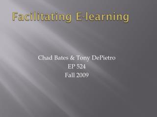 Facilitating E-learning